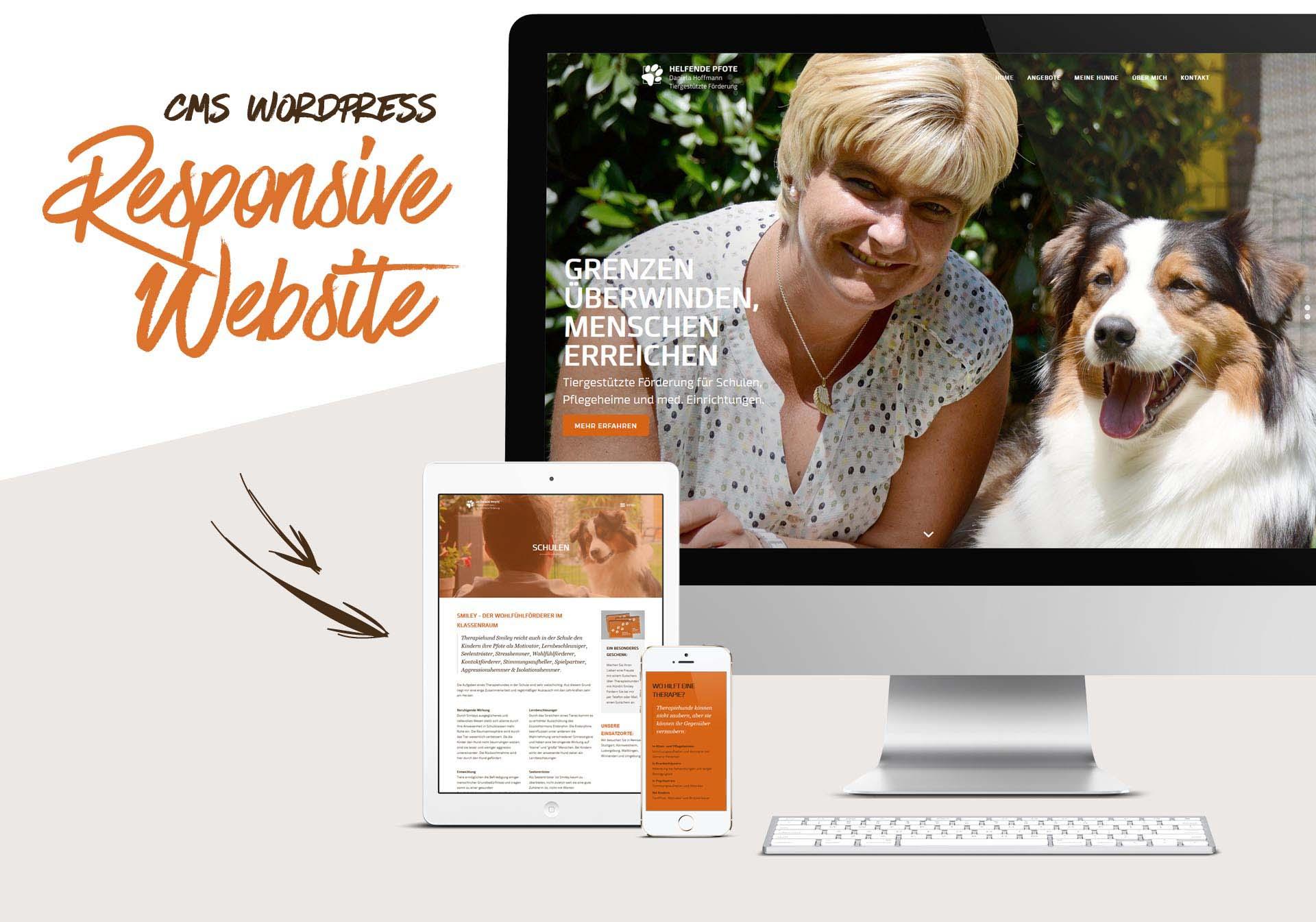 Responsive Website mit dem CMS WordPress für Daniela Hoffmann